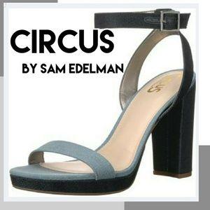 NIB Circus by Sam Edelman two tone denim sandal